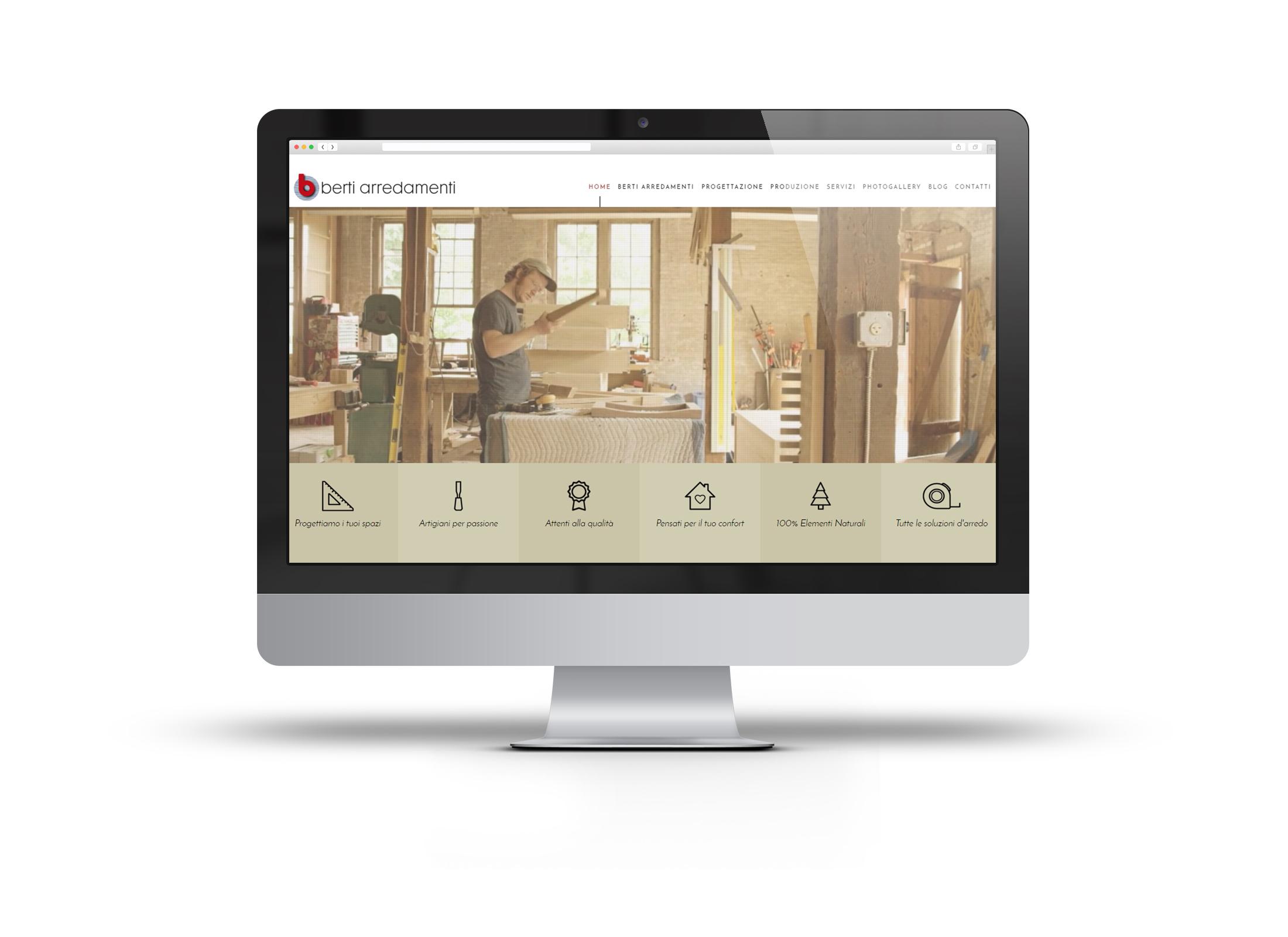 Soluzioni D Arredamento Cesena berti arredamenti sito web | studio leonardo | digital